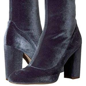 Sam Edelman Women's Calexa Sock Boot Blue Velvet